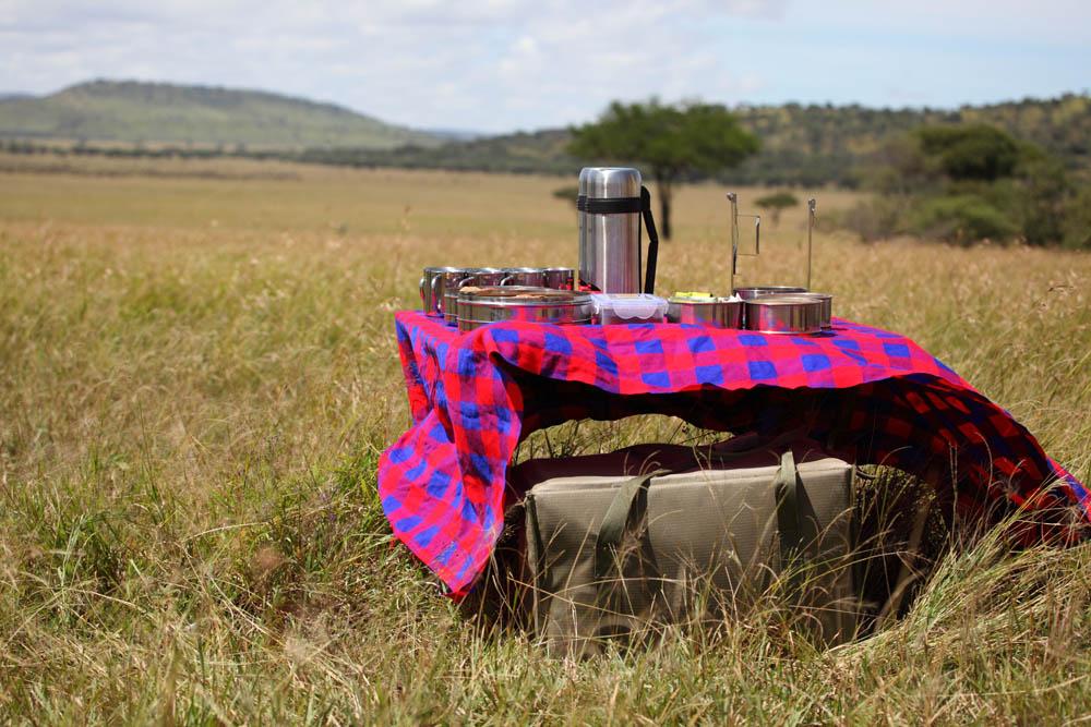 Bush breakfast in Serengeti, Tanzania