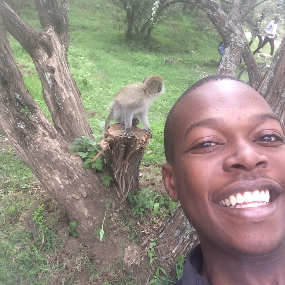 Author in Lake Nakuru NP