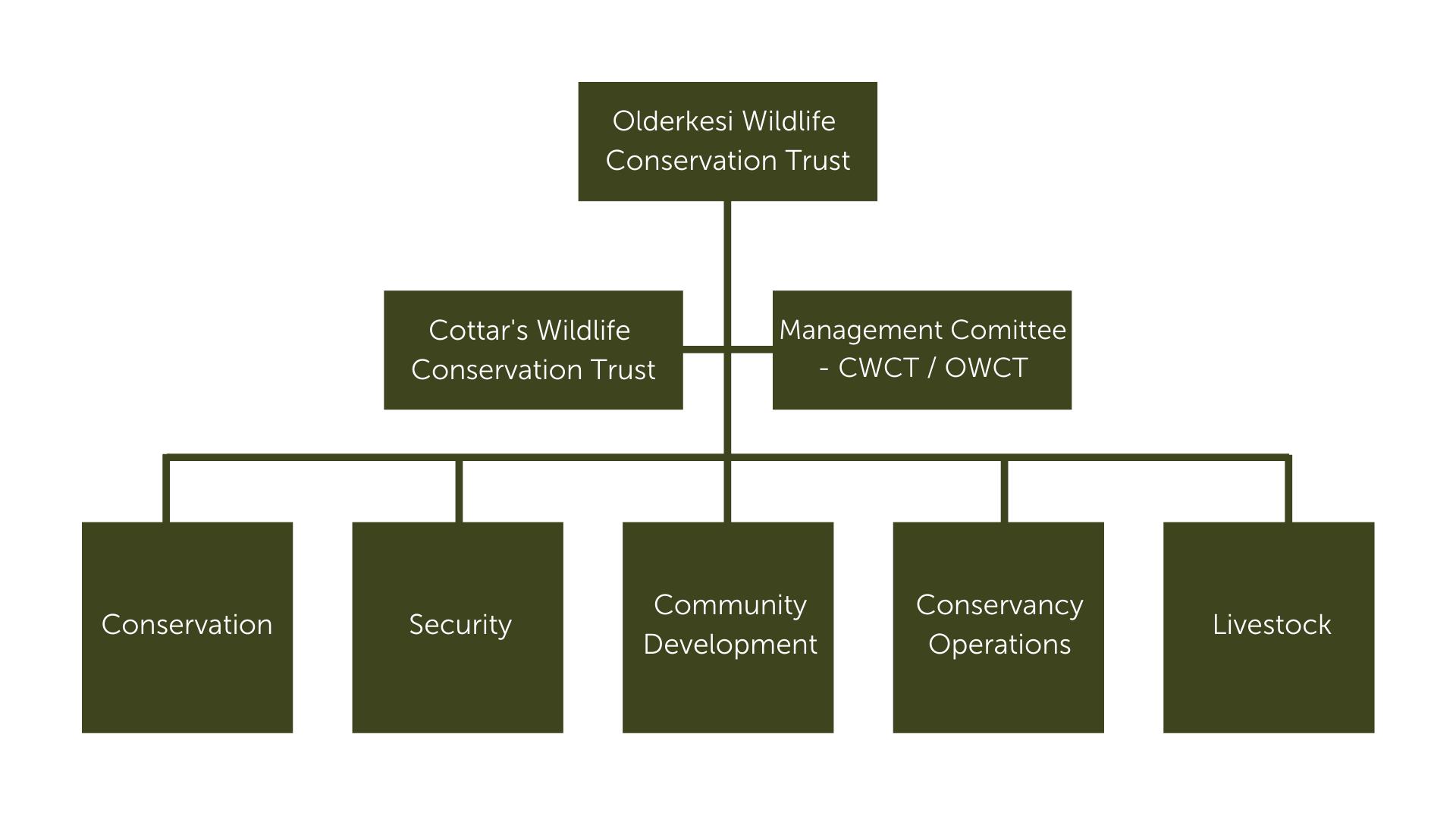 Olderkesi Wildlife Conservation Trust funds chart