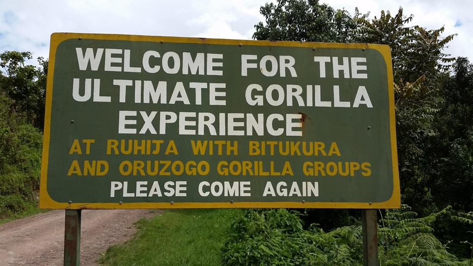 Bwindi entrance sign